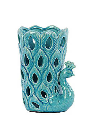 Urban Trends Collection Urban Trends Ceramic Peacock, Turquoise