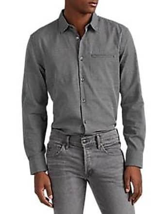 John Varvatos Mens Grid-Checked Cotton Shirt Size XXL