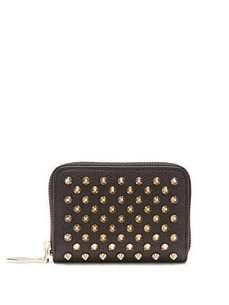 bc2b61a4d65d Christian Louboutin Panettone Zip Around Leather Coin Purse - Womens - Black  Gold
