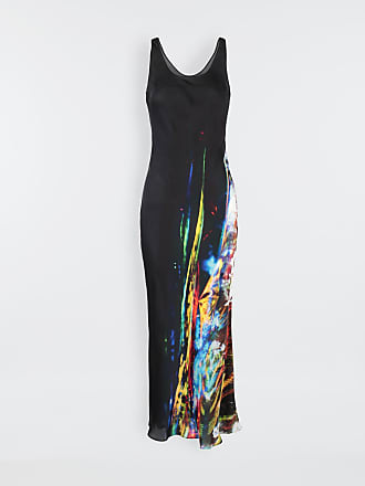 Maison Margiela Maison Margiela Long Dress Black Viscose, Silk
