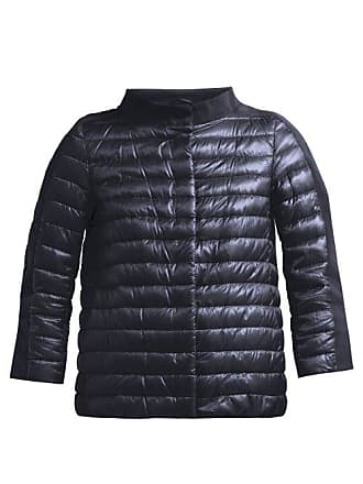 Herno Panelled Quilted Down Jacket - Womens - Navy