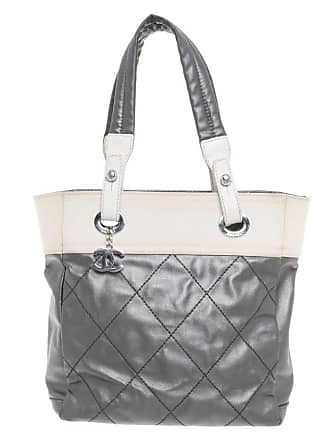 250e45cf6b958 Chanel gebraucht - Shopper in Bicolor - Damen - Grau