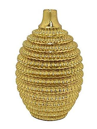 Three Hands 15 Textured Vase in Gold