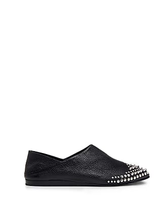 4e63780ca5 McQ by Alexander McQueen Leather Liberty Fold Embellished Pointed-toe  Loafers Black