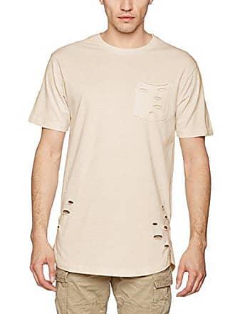 b5c2b6ab9b9b0f Urban Classics Herren T-Shirt Ripped Pocket Tee Elfenbein (Sand 208) XX-