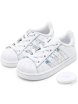 6073ee54 adidas Originals Tênis Couro adidas Originals Menina Superstar El I Branco