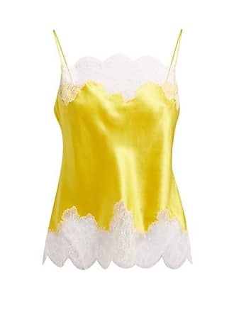 09c30205a1a Carine Gilson Lace Trimmed Silk Satin Camisole - Womens - Yellow