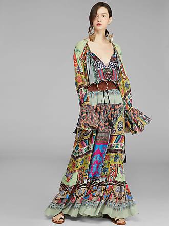 Etro Long Patchwork Print Dress, Woman, Multicolor, Size 38