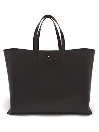 d317054c439 Jil Sander Logo Debossed Leather Tote Bag - Mens - Black