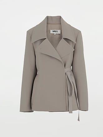 Maison Margiela Mm6 By Maison Margiela Blazer Khaki Polyester, Virgin Wool, Elastane