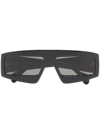 Gucci Óculos de sol retangular - Preto