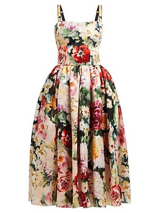 40fc197b Dolce & Gabbana Floral Print Silk Organza Dress - Womens - Multi
