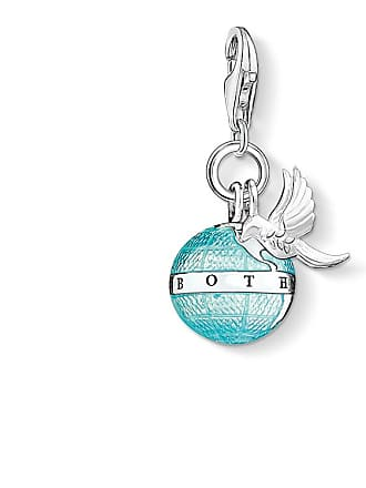Thomas Sabo Thomas Sabo Charm pendant globe with dove blue 1349-664-31