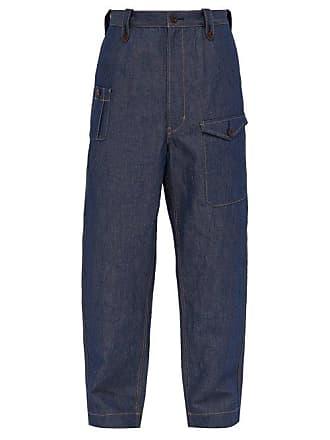 Junya Watanabe Loose Fit Cotton Blend Jeans - Mens - Indigo