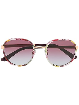 Dolce & Gabbana Eyewear Óculos de sol gatinho com estampa floral - Branco