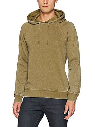 Lucky Brand Mens Venice Burnout Hoodie in Olive, Military, Large