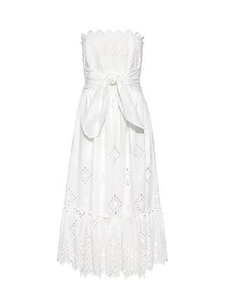 b653fd1f0f5 Sea New York Bow Tie Strapless Eyelet Lace Midi Dress White