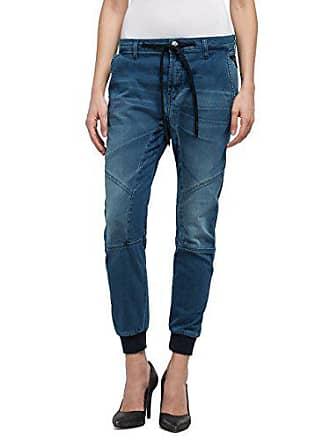 0d3872f3fe3d01 Replay Selliams Boyfriend Jeans, Blu (Mid Blue Denim 9), W28 Donna