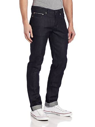 Naked & Famous Denim Mens Weird Guy Mid-Rise Tapered-Leg Jean,Indigo Selvedge,32