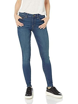 Daily Ritual Womens Mid-Rise Skinny Jean, Mid-Blue, 31 (12) Long