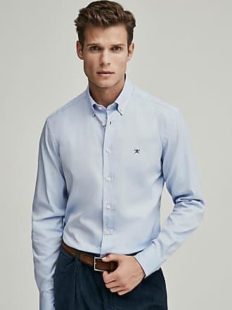 Hackett Mens Slim Fit Oxford Cotton Shirt   Medium   White