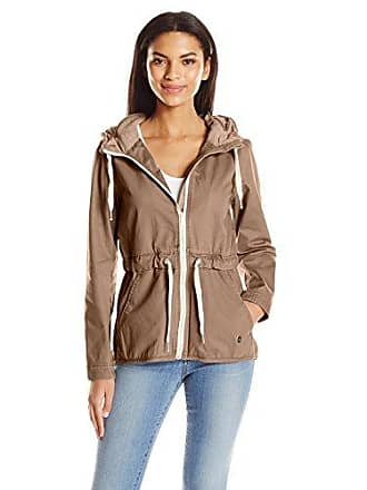 852eaddd Bench Womens Casual Lightweight Jacket with Logo, Khaki Beige, XS