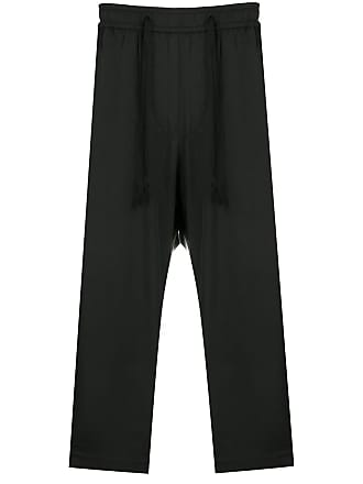 Ziggy Chen drawstring cropped trousers - Black