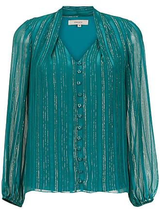 Fillity Blusa de seda listrada - Azul