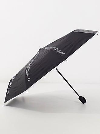 Karl Lagerfeld logo detail umbrella in black