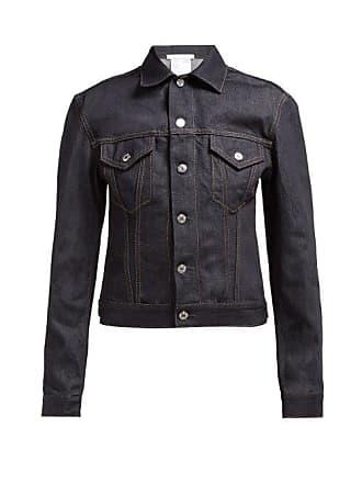 Helmut Lang Femme Denim Trucker Jacket - Womens - Dark Denim