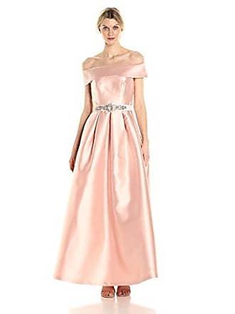 34d61d1e Eliza J Womens Off The Shoulder Roll Collar Ball Gown, Blush, 12