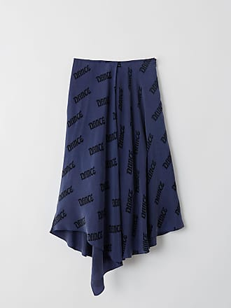Acne Studios FN-WN-SKIR000085 Navy/black A-line skirt