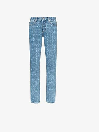 Alyx logo print straight leg jeans