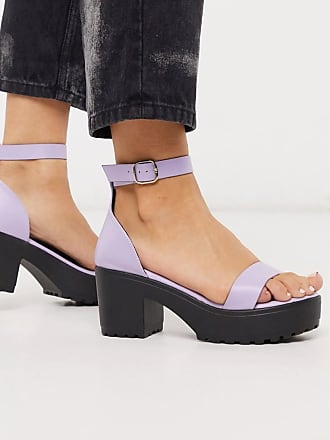 Qupid Qupid chunky heeled sandals in lilac-Multi