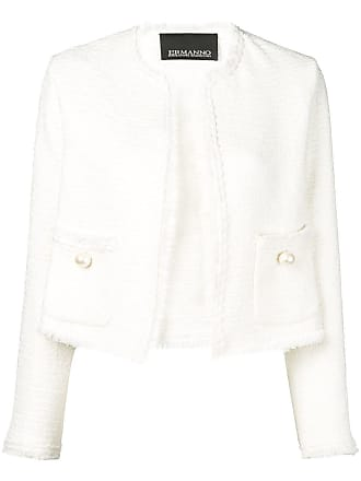 Ermanno cropped jacket - White