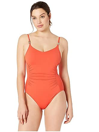 6e397d9107 Michael Kors Radiant Chain Solids Logo Chain Over the Shoulder One-Piece  (Terracotta)