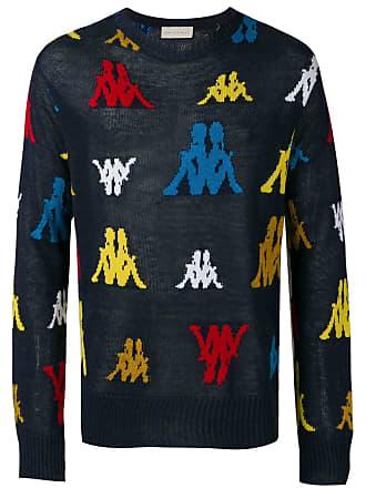 Paura Suéter de tricô Kappa - Azul