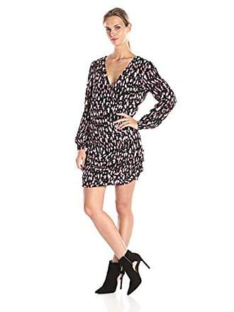 Lovers + Friends Womens Joleen Long-Sleeve Animal-Print Dress, Night, Small