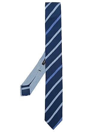 HUGO BOSS Gravata de seda listrada - Azul