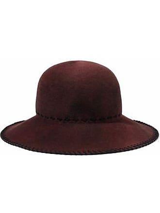 e9e3c1db3e0 Eugenia Kim Eugenia Kim Woman Blake Whipstitched Wool-felt Hat Burgundy  Size M
