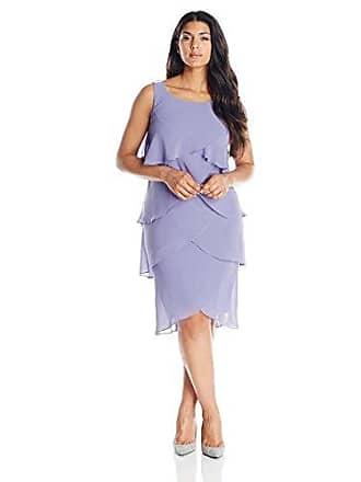 a8087024b01 S.L. Fashions Womens Plus-Size Multi Tiered Jewel Strap Cocktail Dress