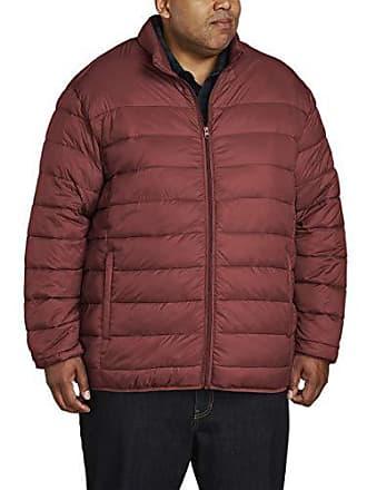 Amazon Essentials Mens Big & Tall Lightweight Water-Resistant Packable Puffer Jacket, Brick Red, 5X Tall