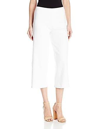 Joan Vass Womens Cropped Wide Leg Pant, White, 0