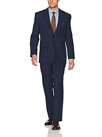 U.S.Polo Association Mens Nested Suit, Blue Check, 40 Short