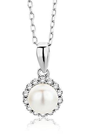 f4aa3b49db Miore Miore Collana Donna Perla di fiume con Catena, con Diamanti taglio  Brillante Oro Bianco