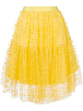 SI-JAY midi tulle skirt - Yellow