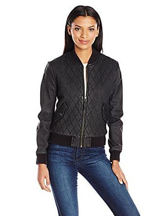 Joe's Womens Isabel Leather Jacket, Black, S