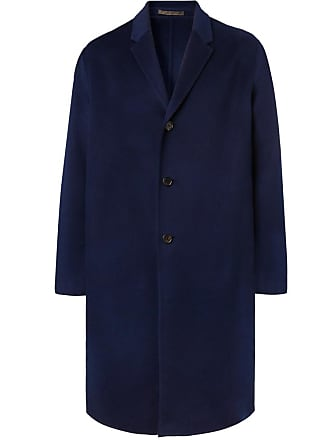 Acne Studios Chad Oversized Wool And Cashmere-blend Coat - Navy