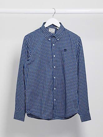 Timberland gingham dobby long sleeve shirt-Blue