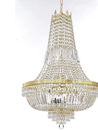 Gallery T22-2730 9 Light 24 Wide Crystal Empire Chandelier Gold